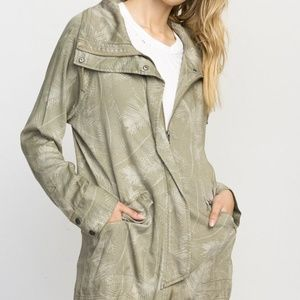 RVCA Green Leaves Military Style Jacket